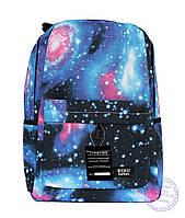 Оптом Универсальный рюкзак с космическим рисунком - голубой - 8148
