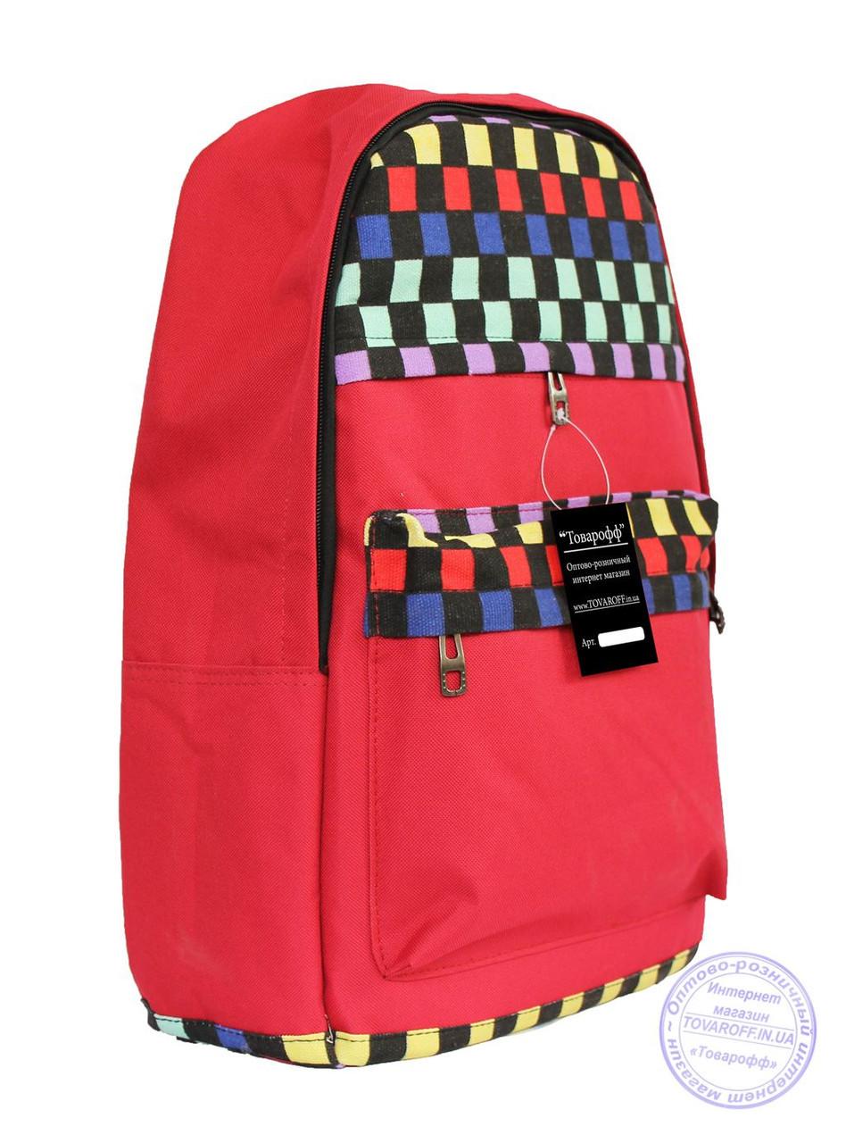 Оптом Рюкзак с этно рисунком - красный - 8150