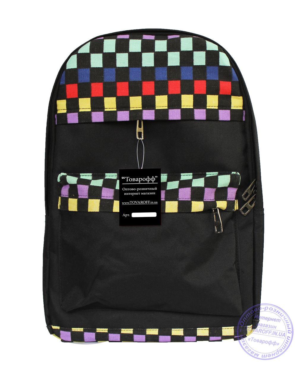 Оптом Рюкзак с этно рисунком - черный - 8150