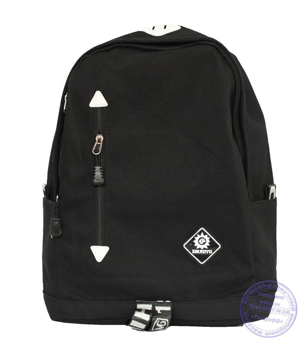 Оптом Универсальный черный рюкзак - 8152