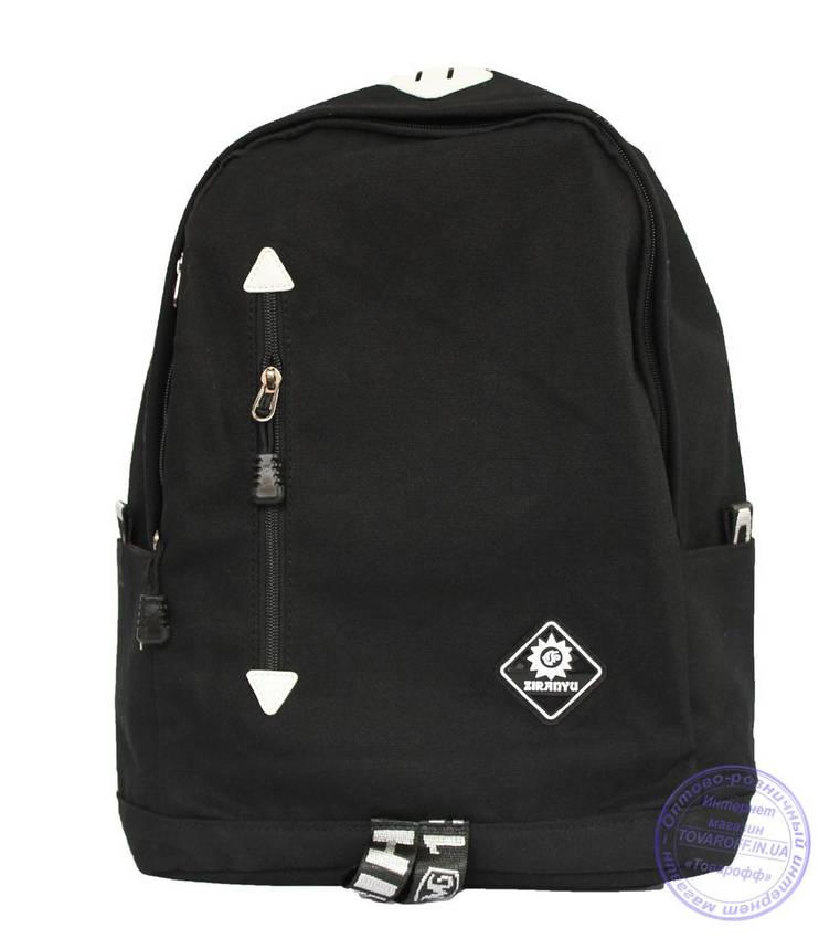 Оптом Универсальный черный рюкзак - 8152, фото 2