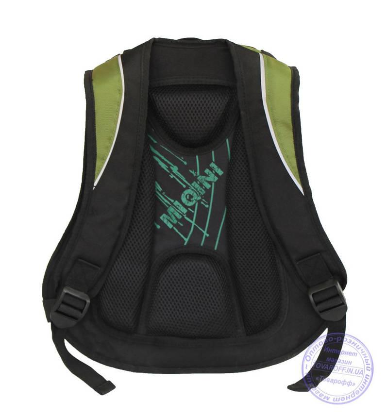 Оптом Школьный рюкзак для мальчиков - зеленый - 8806, фото 2