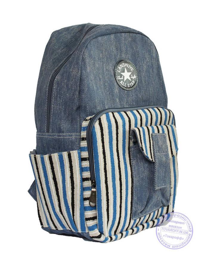 Оптом Молодежный джинсовый рюкзак - 8153, фото 2