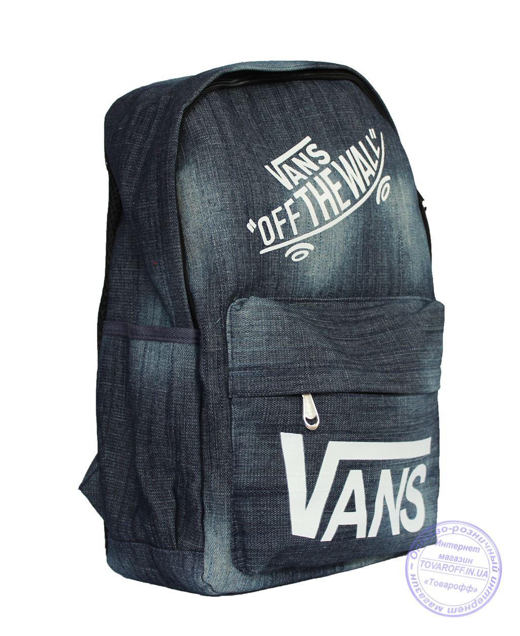 Оптом Джинсовый рюкзак Vans - 8418