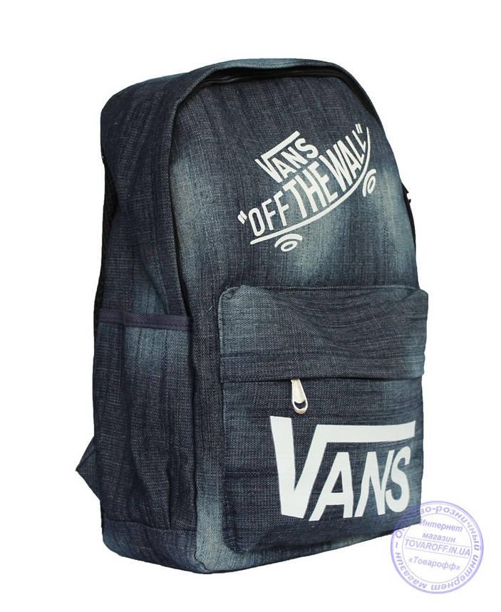 Оптом Джинсовый рюкзак Vans - 8418, фото 2