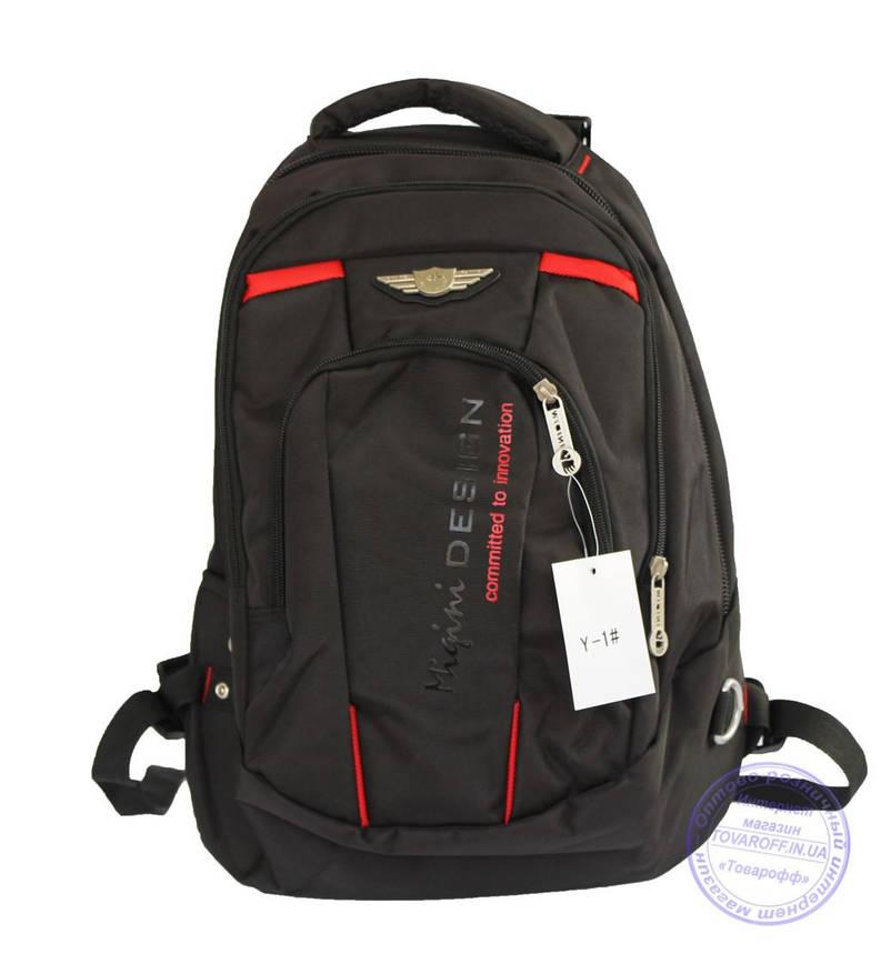 Оптом Універсальний міцний рюкзак для школи і прогулянок - чорний - Y-1, фото 2