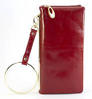 Красный горизонтальный прочный женский кошелек на молнии FUERDANNI art. 101, фото 1