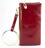 Красный горизонтальный прочный женский кошелек на молнии FUERDANNI art. 101