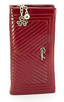 Красный горизонтальный вместительный женский кошелек на молнии FUERDANNI art. 2168, фото 1