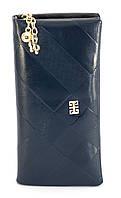 Синий горизонтальный удобный женское кошелек на молнии FUERDANNI art. 7198, фото 1