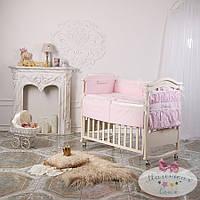 Набор в детскую кроватку Принцесса розовый  (6 предметов), фото 1