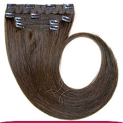 Натуральные Славянские Волосы на Заколках 55-60 см 115 грамм, Шоколад №03