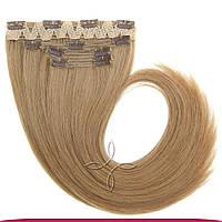 Натуральные славянские волосы на заколках 65-70 см 115 грамм, Русый №08