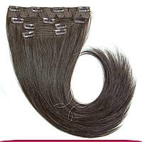 Натуральные славянские волосы на заколках 65-70 см 115 грамм, Шоколад №01C