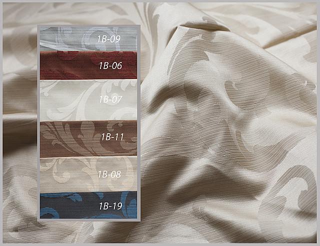 Ткани для штор с узором, партнер - ткань однотонная