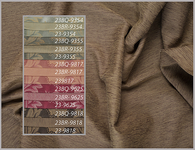 Тканини для штор пртнеры: однотонні, з малюнком
