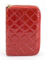 Красный лаковый женский кошелек на молнии Б/Н art. 42, фото 1