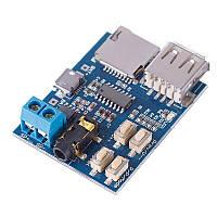 Плата MP3 стерео плеер декодер micro SD, фото 1
