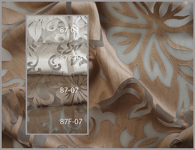 Тюль с прозрачным рисунком