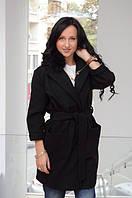 ЛК01 Женское пальто с меховым воротом, фото 1