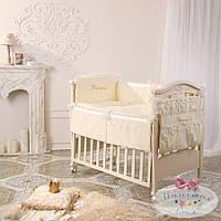 Набор в детскую кроватку Принцесса ванильный  (6 предметов), фото 1