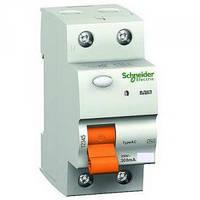 Дифферинциальные выключатели нагрузки  ВД63 2полюса 25A 30mA Shneider