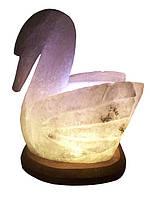 Соляной светильник Лебедь