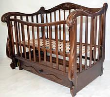 Кроватка-софа с маятником «Корона» (Орех), Колисани