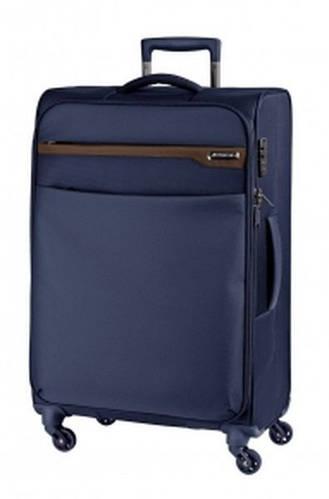 Легкий средний тканевый чемодан 4-колесный 79 л. March LITE 2882/74 синий