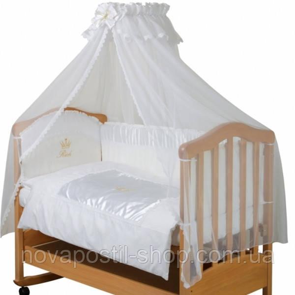 Набор в детскую кроватку Версаль белый (6 предметов)