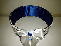 """Сито свадебное для зерна """"Бант сине-белый с кружевом"""", фото 2"""