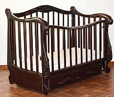 Кроватка-софа с маятником «Корона» (Шоколад), Колисани
