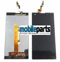 Оригинальный дисплей (модуль)+сенсор (тачскрин) для Fly IQ4512 (черный)