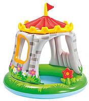 Надувний дитячий басейн з навісом Замок Intex.Royal Castle Baby Pool (від 1 до 3 років), фото 1