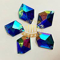 Акриловые камни Форма космик Sapphire AB 16х20mm*1шт
