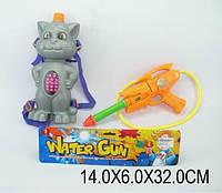 Детский водяной игрушечный пистолет dl319 (1158192) с рюкзаком в пакете 14*6*32см