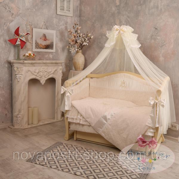 Набор в детскую кроватку Baby chic кофейный (7 предметов)
