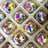 Пришивные  камни Crystal AB 20мм*1шт Мультиогранка