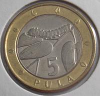 Монета Ботсвана 5 пула 2007 г.
