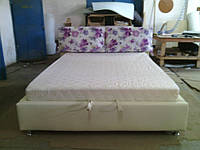 Двухспальные кровати Люкс МЕРИ без матраса с ящиком для белья (с завязками)