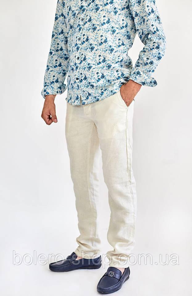135955286eeff Мужские брюки Large Ride 100% лен летние бежевые - Магазин брендовой  женской и мужской одежды