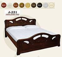 Кровать Л 221 (160х103х200), двуспальная, фото 1