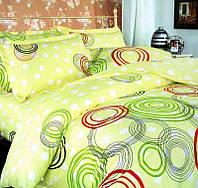 Комплект постельного белья Цветные круги семейный