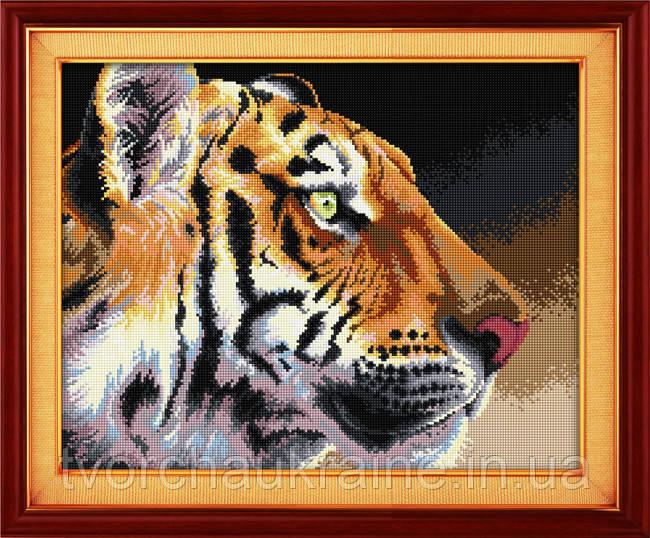 "Набор для рисования камнями (холст) ""Королевский тигр"" LasKo"