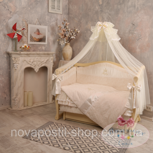 Набор в детскую кроватку Baby chic кофейный (6 предметов)