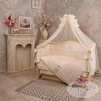 Набор в детскую кроватку Baby chic кофейный (6 предметов), фото 1