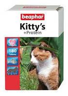 Beaphar Kittys Protein 180 таблеток-витамины для кошек с протеином (12579)
