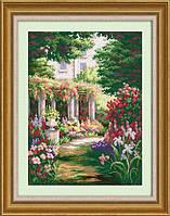 """Набор для рисования камнями (холст) """"Тайный сад"""" LasKo"""