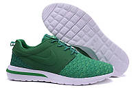 Кроссовки  Nike Roshe Run 3M Flyknit All Green (off), фото 1
