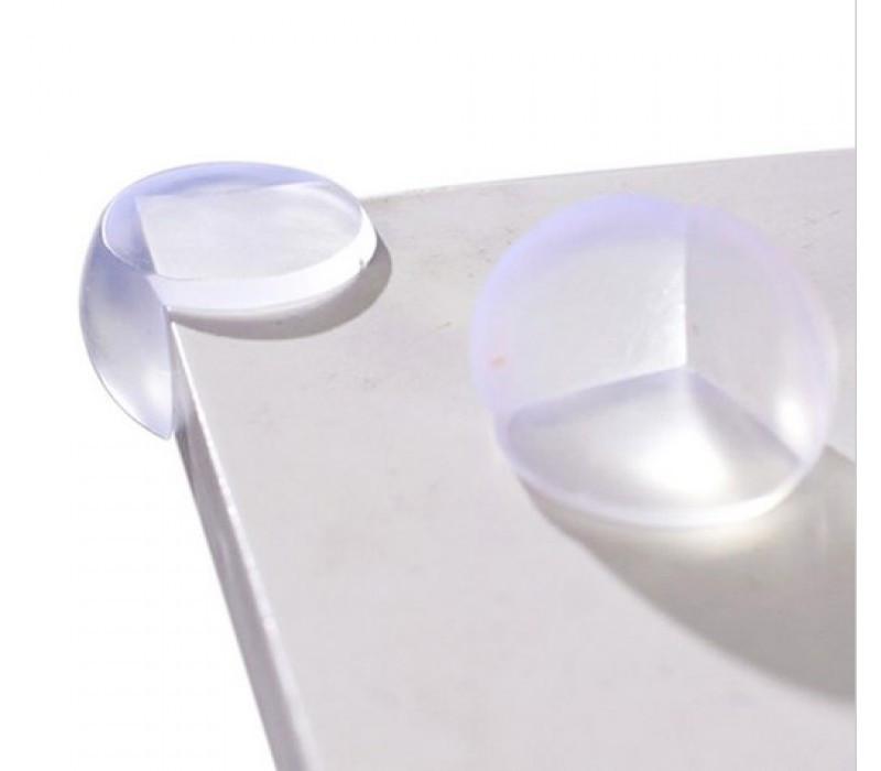 Прозрачные силиконовые уголки на мебель для защиты детей